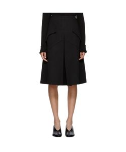 Sara Lanzi | Wool Pleated Midi Skirt