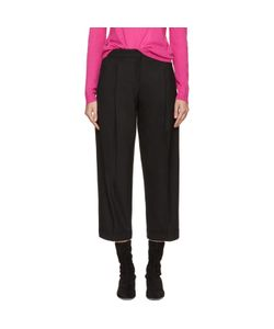 Jil Sander Navy | Cropped Wide-Leg Trousers