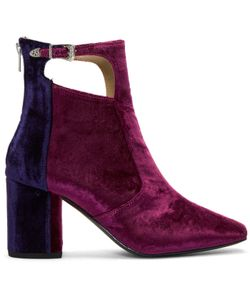 Toga Pulla | Heeled Velvet Cut-Out Boots