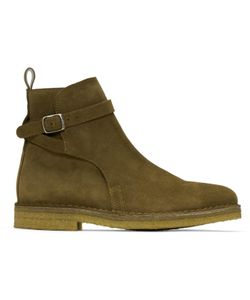 Ami Alexandre Mattiussi | Suede Buckle Boots