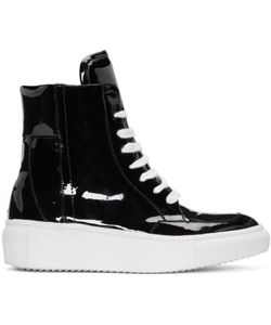 D BY D | Coated High-Top Sneakers