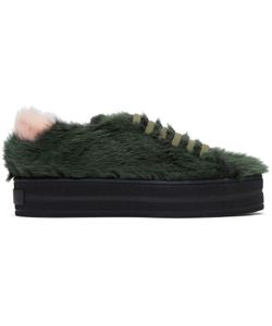 Mr and Mrs Italy | Fur Flatform Sneakers