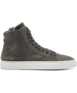 Woman By Common Projects | Shearling Tournament High Sneakers