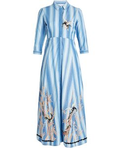 Christophe Sauvat | Midi Shirt Dress With Embroidery Gr. L