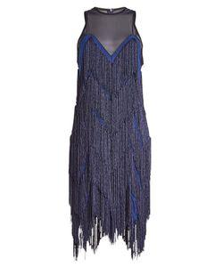 GALVAN | Fringed Silk Dress Gr. Fr 40
