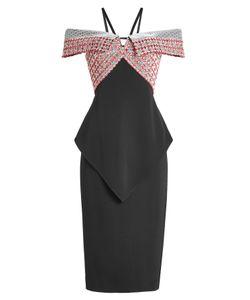 Roland Mouret   Off-Shoulder Dress With Embroidery Gr. Uk 12