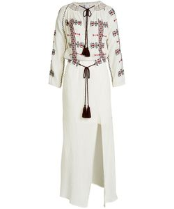 Christophe Sauvat | Embroidered Cotton Maxi Dress Gr. S