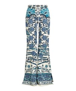 Roberto Cavalli | Printed Flared Pants With Cotton Gr. It 42