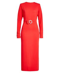 Alessandra Rich | Midi Dress With Embellishment At Waist Gr. It 44