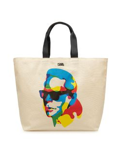 Karl Lagerfeld | Printed Cotton Tote Gr. One Size