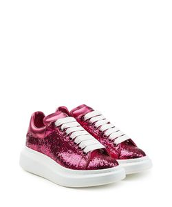 Alexander McQueen | Glitter Leather Sneakers Gr. It 36