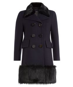 Marc Jacobs | Virgin Wool Coat With Faux Fur Gr. Us 2