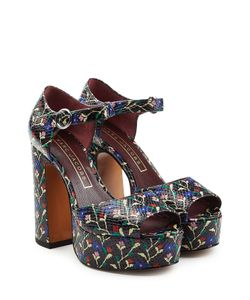 Marc Jacobs | Printed Leather Platform Sandals Gr. It 36