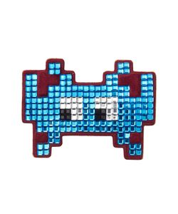 Anya Hindmarch | Embellished Suede Mini Space Invaders Sticker Gr. One Size