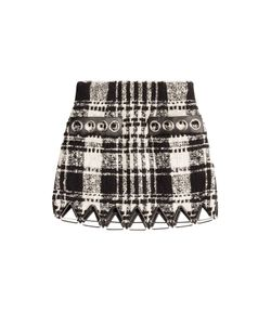 Alexander Wang | Bouclé Skirt With Leather Gr. Us 2