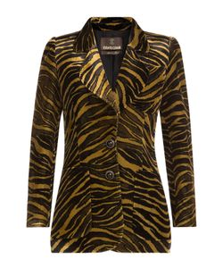 Roberto Cavalli | Animal Print Velvet Blazer Gr. It 38