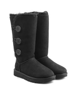 UGG Australia | Bailey Button Triple Suede And Sheepskin Boots Gr. Us 7