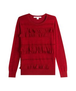 Diane Von Furstenberg | Ruffled Pullover Gr. S