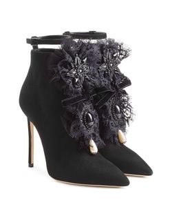 Dsquared2 | Suede Ankle Boots With Lace Gr. It 36