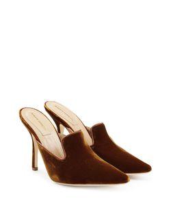 Alberta Ferretti | Velvet Mules With Stiletto Heel Gr. Eu 38