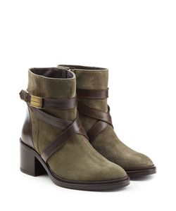Dsquared2 | Suede Ankle Boots With Contrast Leather Straps Gr. Eu 39