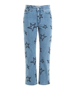 ÊTRE CÉCILE | Star Embroidered Cropped Jeans Gr. 25