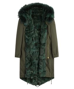 BARBED | Cotton Parka With Fox Fur Lining Gr. Xs