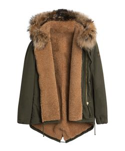BARBED | Cotton Parka Jacket With Raccoon Fur Lining Gr. S
