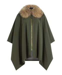 BARBED | Cotton Cape With Raccoon Fur Gr. One Size