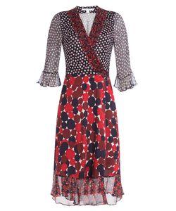 Diane Von Furstenberg | Silk Mixed Print Wrap Dress Gr. Us 10