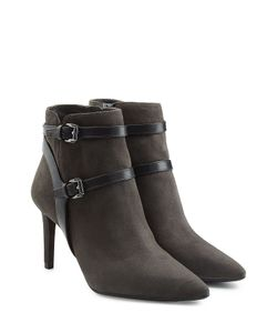 Michael Michael Kors | Suede Ankle Boots With Leather Straps Gr. Us 10