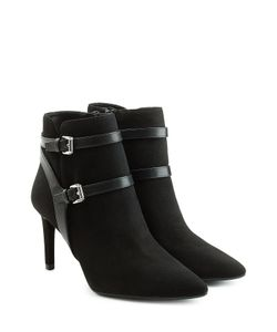 Michael Michael Kors | Suede Ankle Boots With Leather Straps Gr. Us 9
