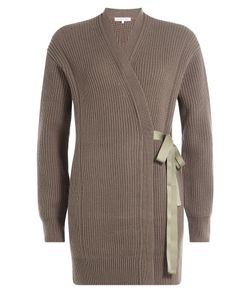 Helmut Lang | Ribbed Wool-Cashmere Cardigan Wrap Gr. S