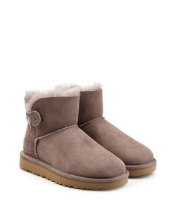 UGG Australia | Shearling Lined Suede Boots With Button Gr. Us 8
