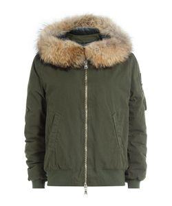 BARBED | Cotton Bomber Jacket With Fur-Trimmed Hood Gr. S