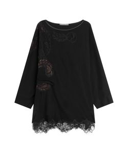 Alberta Ferretti | Wool Top With Lace Gr. It 42