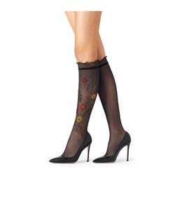Fogal | Embroidered Knee-High Socks Gr. L