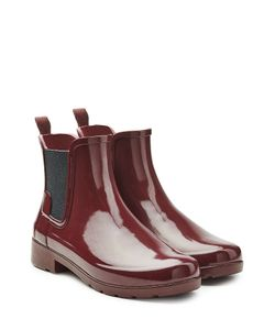Hunter | Glossy Rubber Chelsea Boots Gr. Uk 8