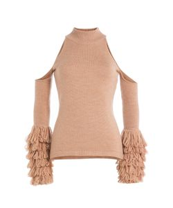 Jonathan Simkhai | Merino Wool Pullover With Cut-Out Shoulders Gr. S