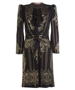 Roberto Cavalli | Dress With Ruffles And Print Gr. It 42