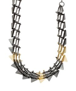 Alexis Bittar | Mixed Metal Spike Necklace Gr. One Size