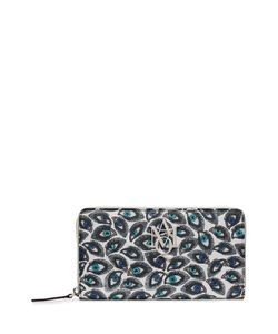 Alexander McQueen | Printed Leather Continental Zip-Around Wallet Gr. One Size