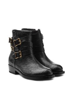 Rupert Sanderson | Leather Ankle Boots With Buckled Straps Gr. It 38
