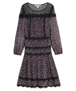 Diane Von Furstenberg | Printed Silk Dress Gr. Us 2