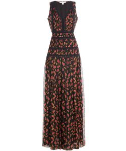 Diane Von Furstenberg | Printed Silk Dress With Lace Gr. Us 2