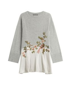 Alberta Ferretti | Wool-Cashmere Pullover With Embroidery Gr. It 42
