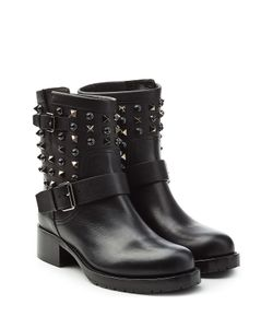 Valentino | Embellished Leather Ankle Boots Gr. It 36