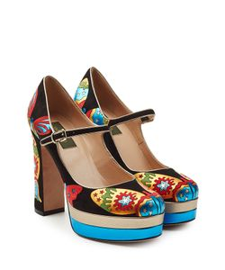 Valentino | Suede Platform Mary-Janes Gr. It 40