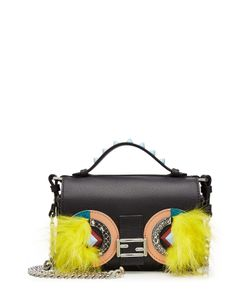 Fendi | Embellished Leather Double Baguette Shoulder Bag Gr. One
