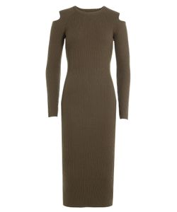 Theory | Wool Dress With Cut-Out Shoulders Gr. S